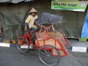 Becak à Jogyakarta